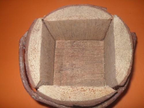 vaso madeira rústico (2un)