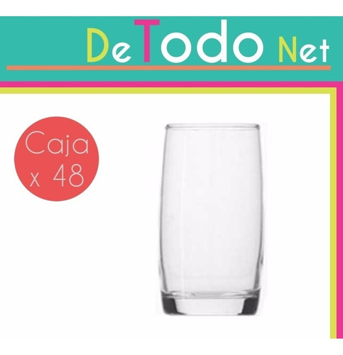 vaso maracaibo rigolleau 410ml vidrio resistente caja x48