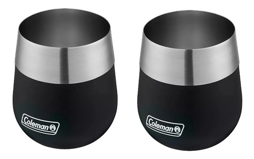 vaso mate térmico coleman claret acero inoxidable 384 ml x 2