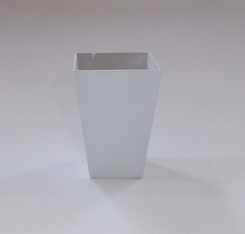 vaso mdf kit 20 vasos quad cone 11x8x8  3mm branco40404003