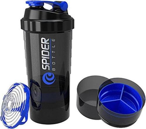 vaso mezclador batidor shaker de proteina 3 en 1 espiral