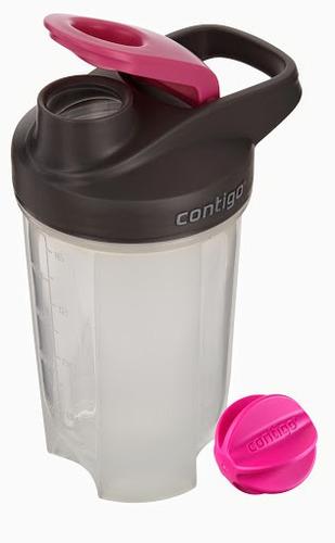 vaso mezclador contigo® shake & mix rosada - 630cc nutrición