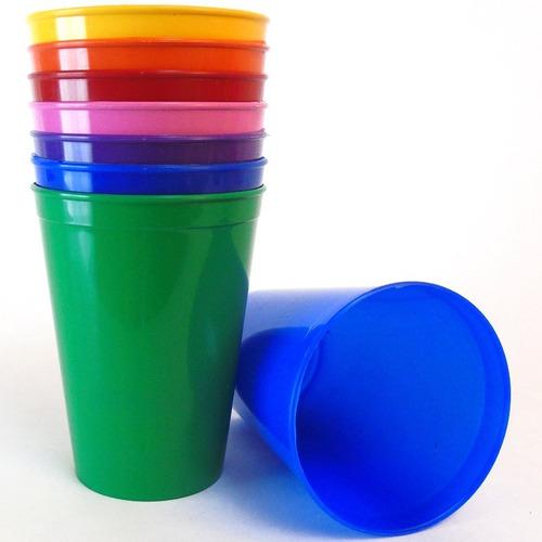 vaso mini infantil plastico cotillon fiesta niños oferta