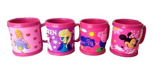 vaso mug, vaso pocillo para niña plástico 3d  rosado