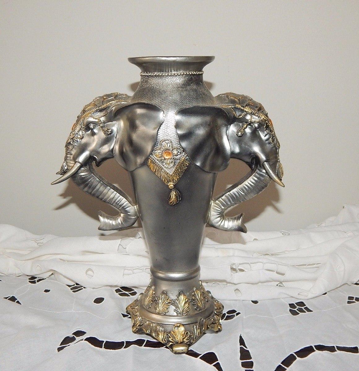 b654a65c5 Vaso Ânfora Alças Representando Cabeças De Elefantes - R  239