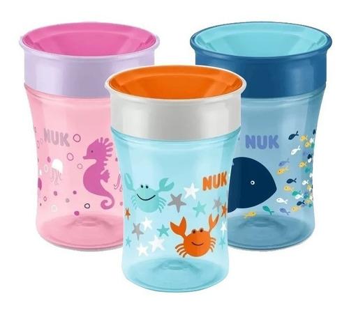 vaso nuk bebe magic cup 250 ml +8 meses 360 antigoteo