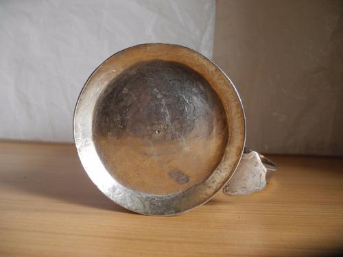 vaso o goblet plata colonial finamente labrada siglo xix