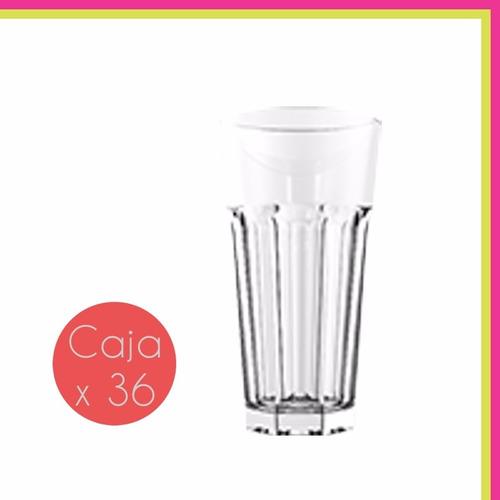 vaso oslo 350 ml rigolleau vidrio resistente caja x36 uni