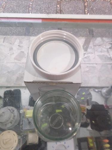 vaso oster mini papillero/salsero vidrio con tapa
