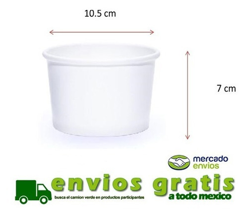 vaso para helado 12 oz 1000pz