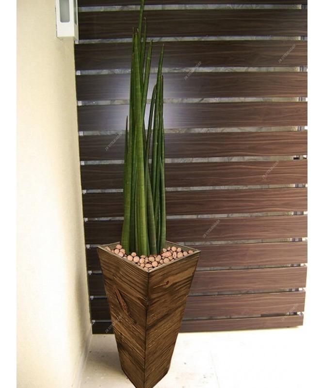 Vaso Para Planta Flores Madeira C