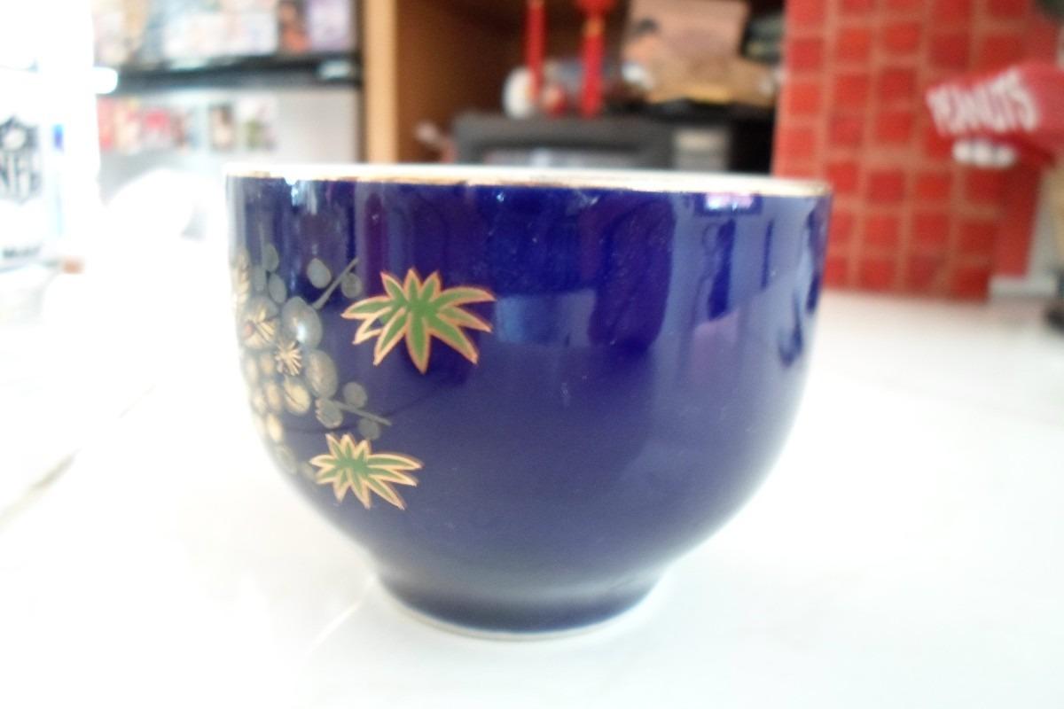 Vaso para sake porcelana azul oriental japon restaurant for Vasos para bar