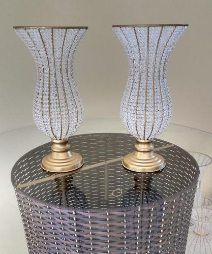vaso pedraria cristal jarros e bandejas kit envio imediato