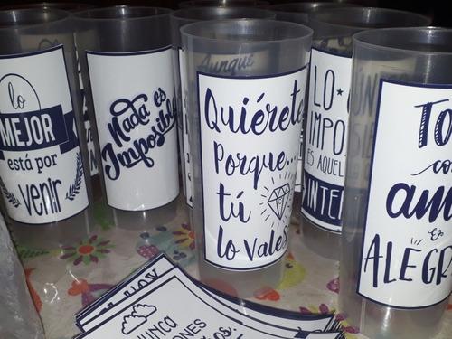 vaso personalizado x 10 u