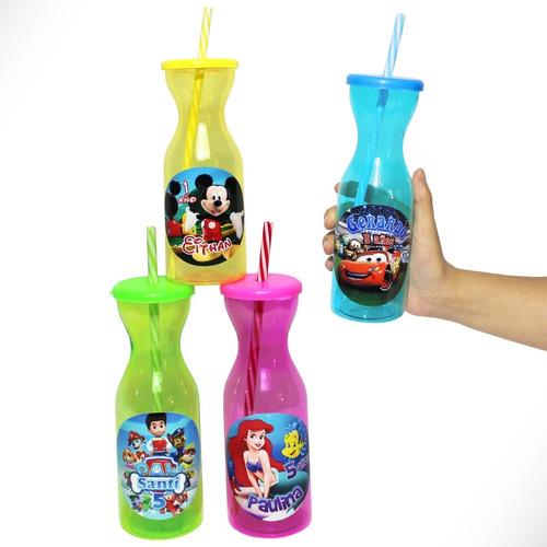 vaso personalizados premium con popote fiesta cumple