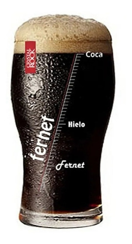 vaso pinta fernet 540ml en caja de regalo
