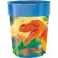 vaso plástico importado cotillon dinosaurio