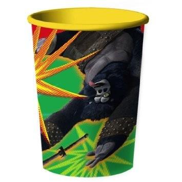 vaso plástico importado cotillón kung fu panda