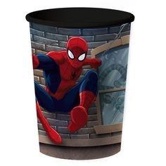 vaso plástico importado cotillón spiderman - el hombre araña
