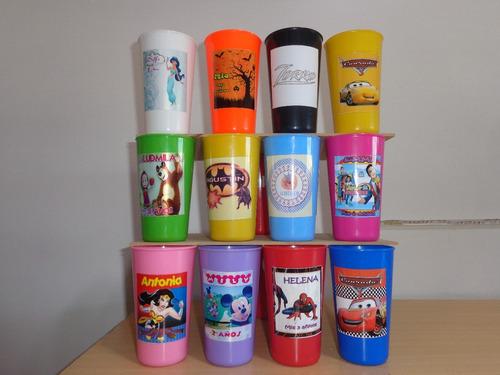 vaso plastico jarro taza personalizado en vinilo lavable