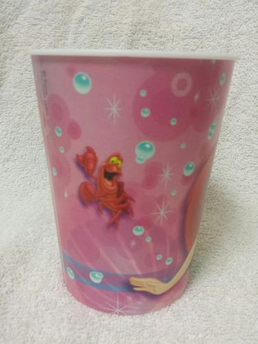 vaso plastico motivo sirenita princesa