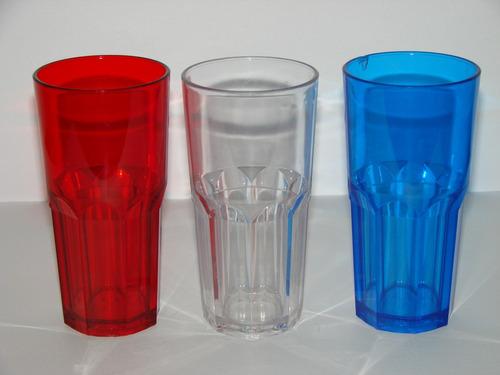 vaso plastico policarbonato irrompible simil vidrio nadir