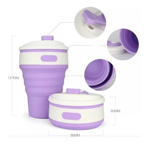 vaso  plegable hermético, ecológico de silicón