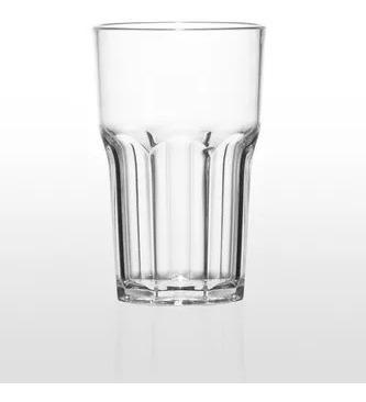 vaso policarbonato irrompible transparente color pack x6 uni