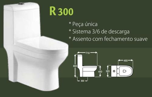 vaso sanitário c/caixa acoplada r300- assento c/ amortecedor