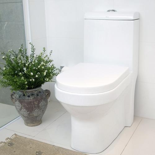 Vaso Sanitário Com Caixa Acoplada Pettra Safira Branco Wt  R$ 780,99 em Merc -> Decoracao De Banheiro Com Vaso Sanitario Preto