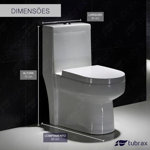 vaso sanitário monobloco completo - caixa acoplada privada