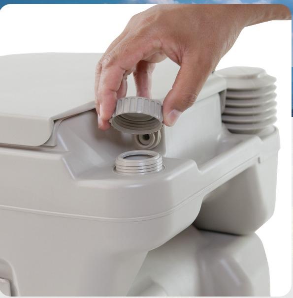 Vaso Sanitário Portátil Banheiro Químico Ecocamp 20l Nautika  R$ 649,99 em M -> Banheiro Feminino Portatil