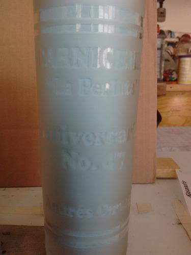 vaso satinado impreso en serigrafia