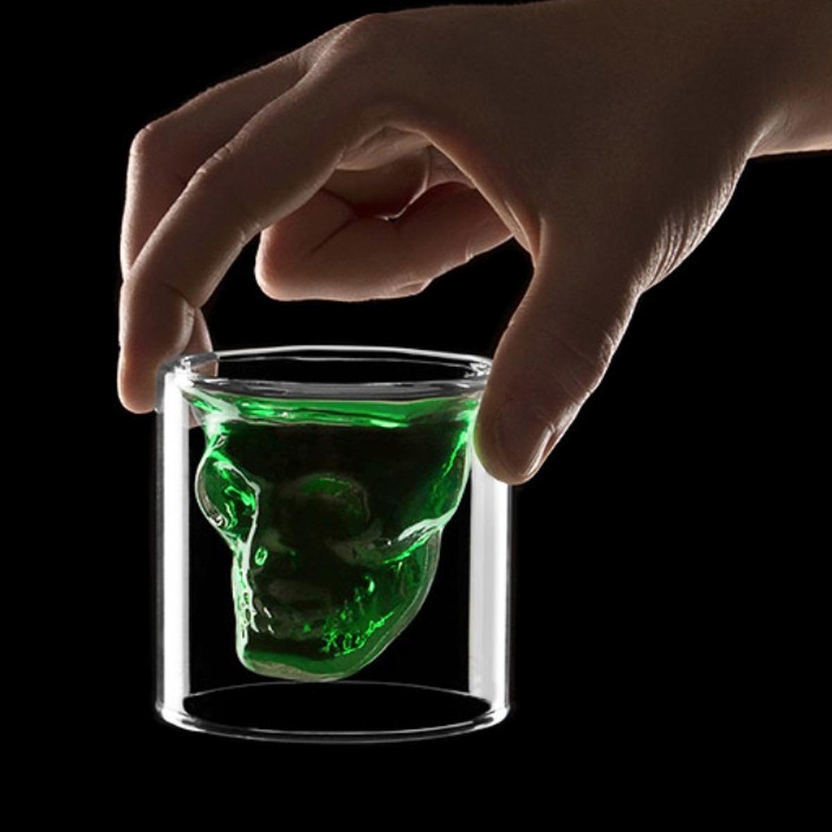 Vaso Shot Doomed Gigante Cristal De 250ml Craneo H1252 79 00  # Muebles El Gigante Saltillo