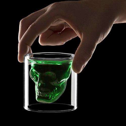 vaso shot doomed gigante cristal de 250ml craneo h1252