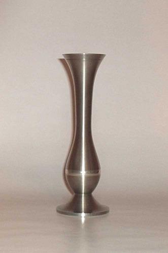 vaso solitário decorativo em estanho- frete grátis/oferta