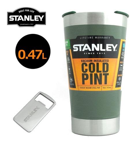 vaso stanley 473ml termico vacuum pint destapador cerveza