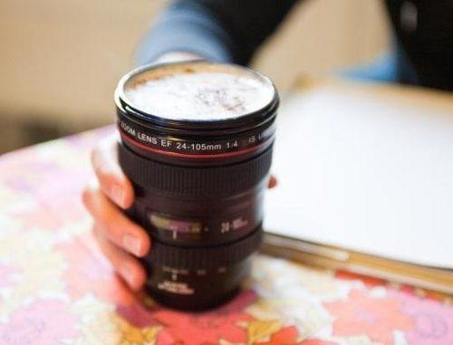vaso taza forma lente  de cámara 24-105 mm, tipo lente