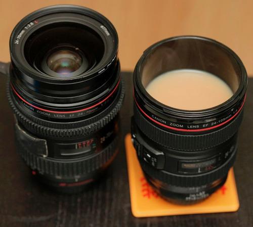 vaso taza forma lente de cámara 24-105mm tipo lente