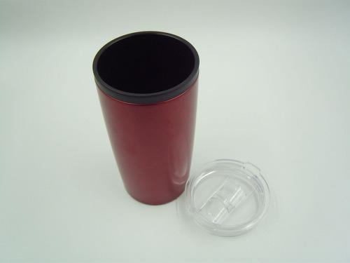 vaso térmico color acero inox. 540 ml válvula antiderrames