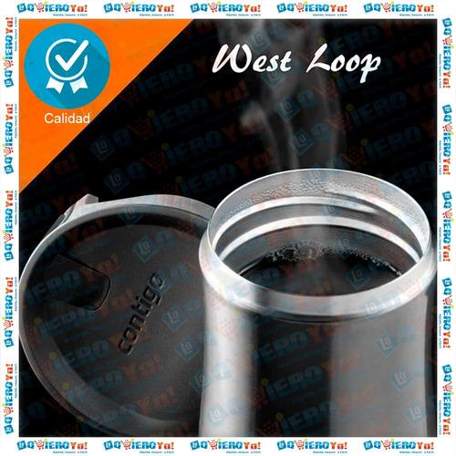 vaso térmico contigo west loop de acero inoxidable 473 ml