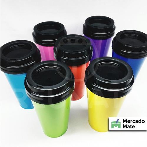 vaso termico de polipropileno colores plastico reunata mayor