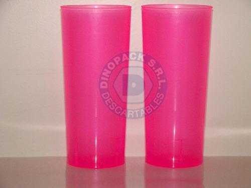 vaso trago largo pp irrompibles colores fluo x 50un.