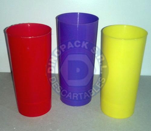 vaso trago largo pp irrompibles colores vivos x 50un.