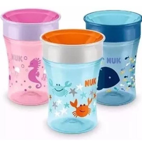 vaso vasito nuk bebe magic cup 250 ml +8 meses 360 antigoteo