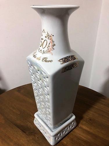 vaso vazado bodas de ouro 50 anos de casamento