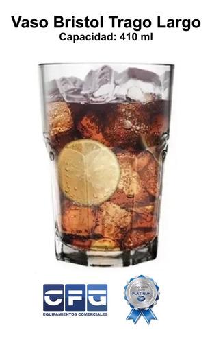 vaso vidrio bristol 2711 nadir facetado 410 ml x 12unidades
