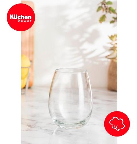 vaso vidrio copa s/tallo copón gourmet rigolleau x6 cuotas