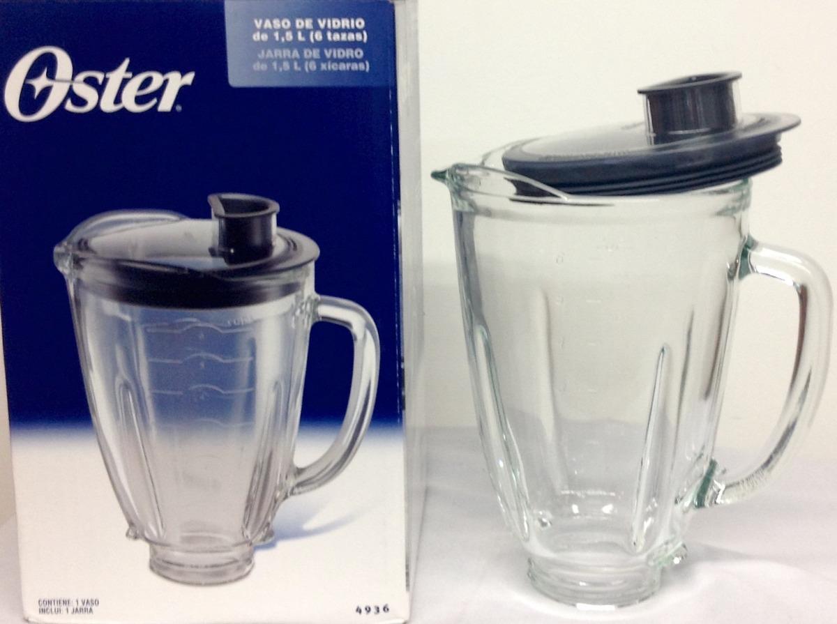 Vaso vidrio licuadora reversible oster original con tapa for Licuadora oster reversible