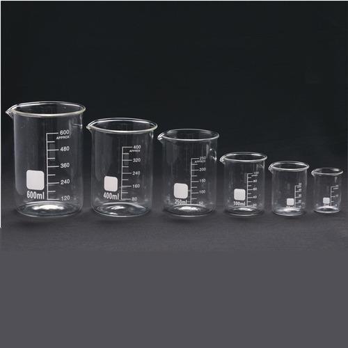vaso vidrio precipitado  hda  boro 3.3 50ml importado